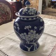 Kinai régi fedeles porcelán váza nagyon szép hibátlan.
