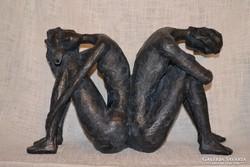 Antik hatású szobor páros