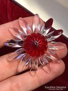 Swarovski kristály virág és ajándék kitűző díszdobozban