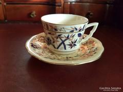 Zsolnay kávés csésze bambusz mintával