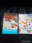 Tejipari vállalat propaganda recept fűzetei.