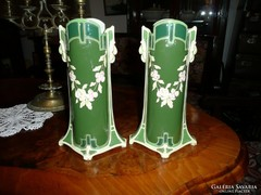 2 db gyönyörű jelzett porcelán váza az 1800-as évekből
