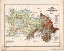Szatmár vármegye térkép 1899, Magyarország atlasz (a), megye