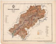 Trencsén vármegye térkép 1899, Magyarország atlasz (a)