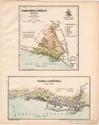 Fiume város és kikötő térkép 1899, Magyarország atlasz (a)