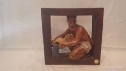 Vízöntő iparművész kerámia szobor kép