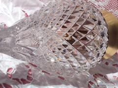Aranyozott kristály váza