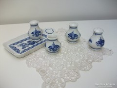 Hagymamintás porcelán fűszertartó készlet hibátlan állapot