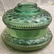 Petróleum lámpa üveg zöld
