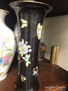 Nyári akciós ár! Fekete Herendi váza! Viktória mintás.1.oszt