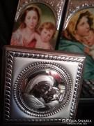 Jelzett 925-ös ezüsttel dekorált szentképek egyben..