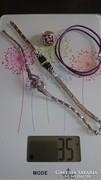 Szép ezüst ékszerek, karkötő, gyűrű nyaklánc