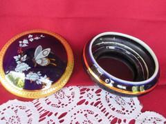 Limoges aranyozott bonbonier  pillangó mintával 0417