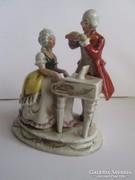 Német porcelán: Műlovar figura 1930-40 évekböl   Kézzel fest