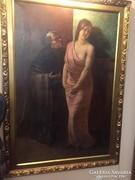 Hatalmas méretű antik festmény