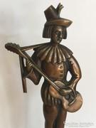 Art-deco bronz zenészfigura. Hagenauer?