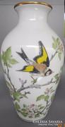 Márkás Franklin kézzel festett porcelán váza