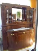 Szecessziós tükrös tálaló szekrény szép állapotban