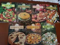 7 db  Lajos Mari- Hemző Károly szakácskönyv - egyben