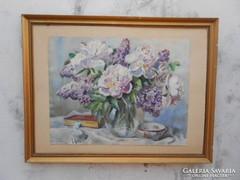 Edvi Illés Panni(1897-1978)Virágcsendélet csészével.