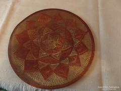 Keleti mintával díszített réz tányér