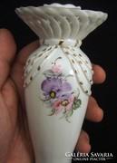 Gyertyatartó román porcelán kézzel festett