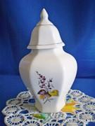 Hollóházi kicsi urna szerű tartó tároló porcelán