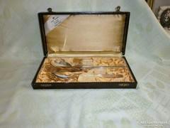 3db Ezüst evőeszköz , diszdobozban