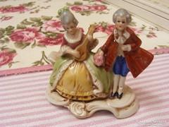 Német porcelán szobor, Barokk stílusú párocska sorszámozott