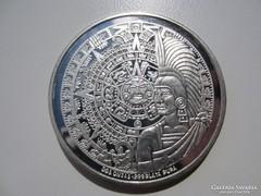Mexikó Inka Birodalom 2 uncia ezüst RITKA emlékérme 0,999AG