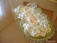 Retró, egyedi likőrös/pálinkás pohárkák (6 db)