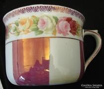 Antik cseh  MZ Altrohlau rózsamintás porcelán csupor