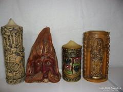 4 db-os antik gyertya gyűjtemény