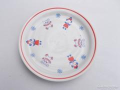 Zsolnay porcelán, mese mintás gyerek tányér (AA-02)