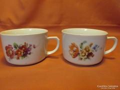 2 db gyönyörű virágmintás teás csésze
