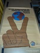 Eladó Xi világifjúsági diáktalálkozó plakát.