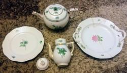 Herendi Apponyi hibás teás kávés kiöntők egyéb tányérok