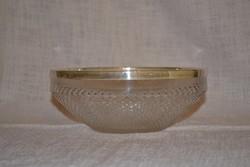 Ezüst peremű asztal közép  ( DBZ 0092 )