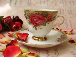 Antik Royal Bavaria rózsás teáscsésze aljal