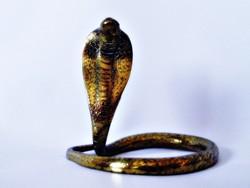 Réz kobra figura