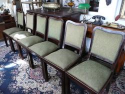 6 db gyönyörű Art Deco szék eladó 1930-ból