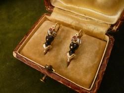 Mórfejes antik arany fülbevaló