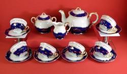 Zsolnay  teáskészlet Pompadour I. 6 személyes