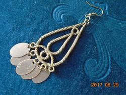 """Bronzírozot fém fülbevaló """"érmékkel""""-8 cm"""