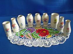 Hollóházi porcelán pici ibolya váza darabra