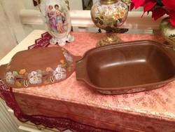 Gyönyörü régi kacsa sütő cserép edény