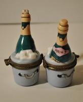 Limoges jelzésű porcelán , gyűrűtartó 2 db