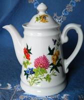 Gyönyörű virágmintás porcelán kiöntő, kanna