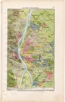 Budapest Székes - főváros térkép 1906, magyar atlasz