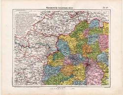 Magyarország térkép 1906, Északnyugat - Magyarország, atlasz